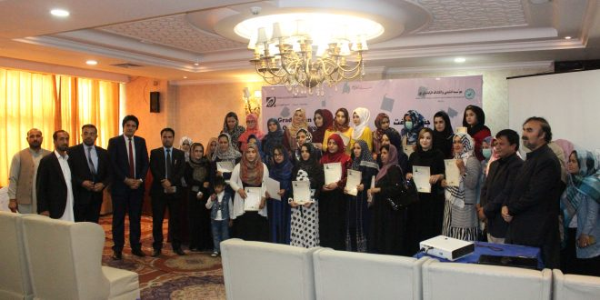 graduation ceremony of Training on Delegitimizing Oppressive Discourse Training for Afghan Women Women's Rights Activist on Women's Rights in Islamic Legal Framework